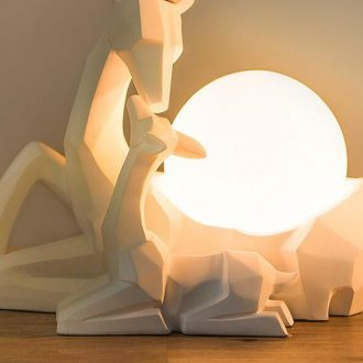 white deer lamp